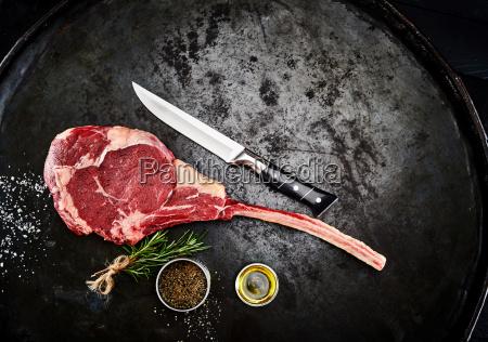 zubereitung eines ribeye oder delmonico steaks
