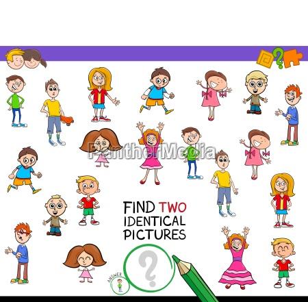 zwei identische bilder spiel fuer kinder