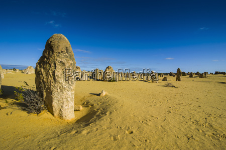 the pinnacles limestone formations at sunset