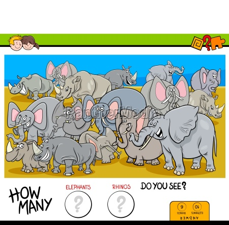 counting elephants and rhinos game for