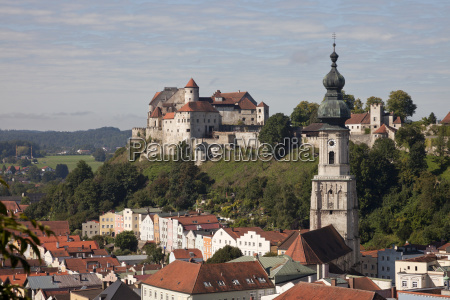 city view burghausen with the longest