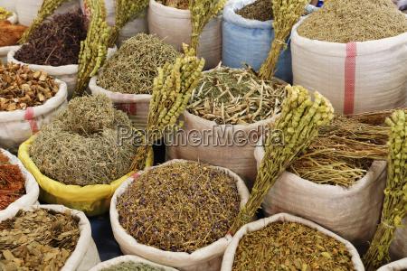 kraeuter auf markt avanos provinz nevsehir