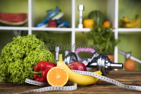 gesundes lebensstilkonzept diaet und eignung