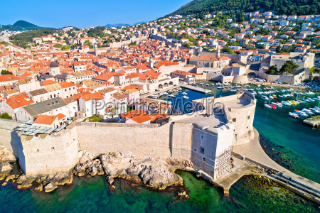 town of dubrovnik city walls unesco