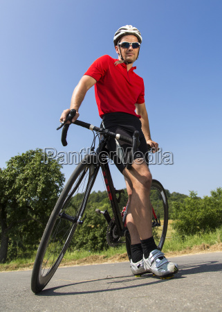 cyclist with a race bike age
