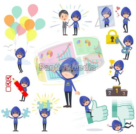 blauer parker hacker mensuccess positiv