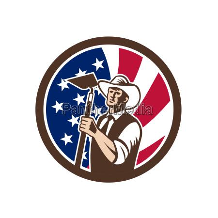 american organic farmer usa flag icon