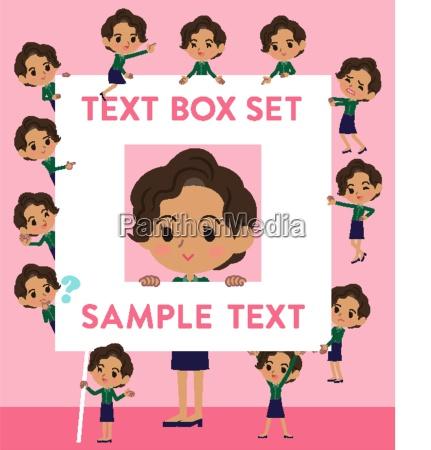 business black womentext box