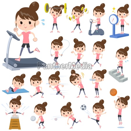 bun hair mom sports exercise