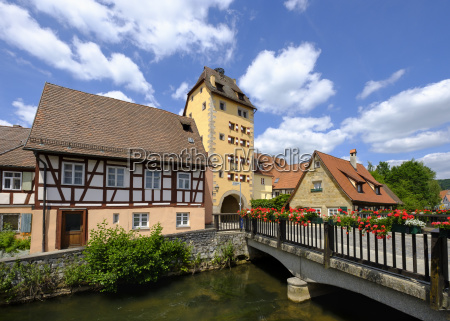 water gate and river pegnitz hersbruck