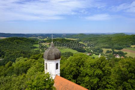 castle chapel view from falkenstein castle