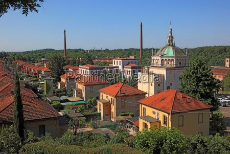 italien blick auf das arbeiterdorf crespi