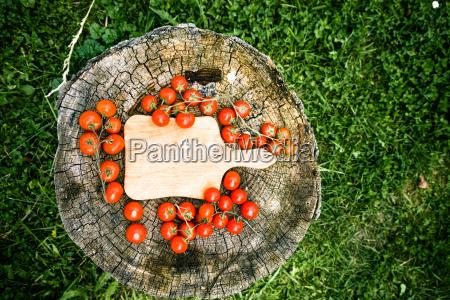 frische tomaten auf holz
