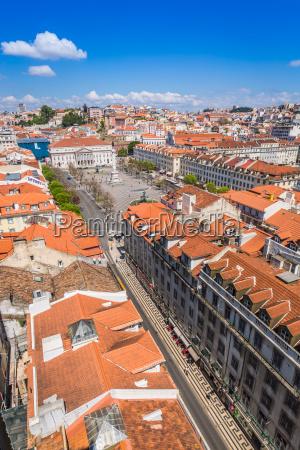 lissabon portugal skyline ueber santa justa