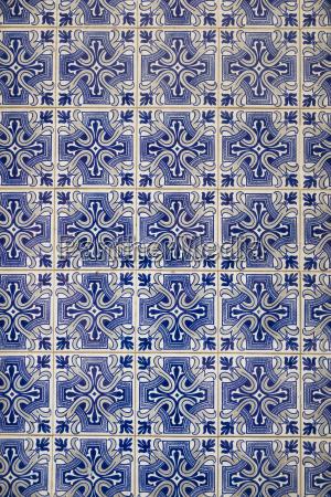 blue art flow europe ornament ceramic