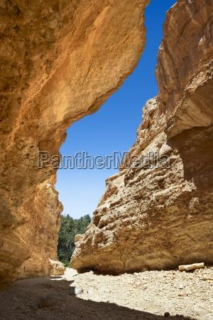 the desert canyon near the sahara