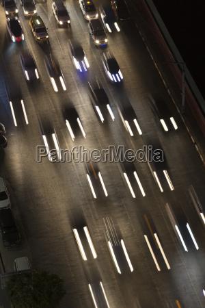 high angle view of traffic jam