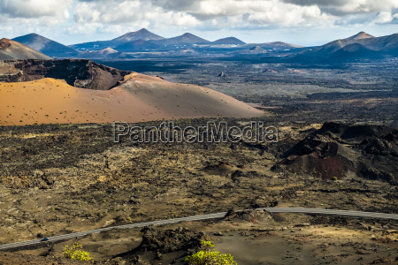 timanfaya volcanic area in lanzarote