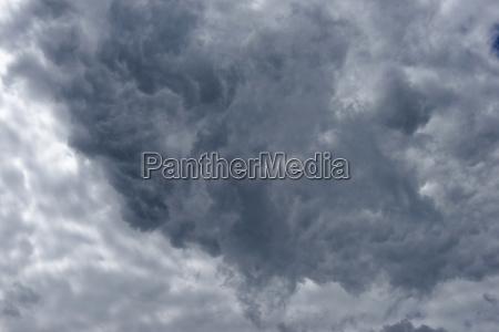 clouds at the great rheinsberg lake