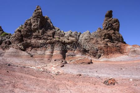 farbige felsformation der roques de garcia