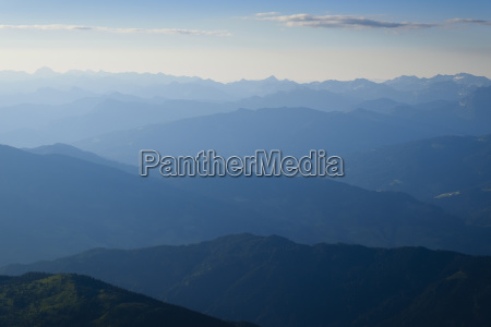 mountain ranges silhouette view from the