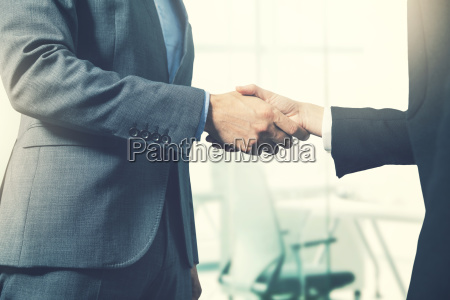business people handshake after successful partnership