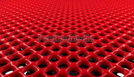 red glossy grid background