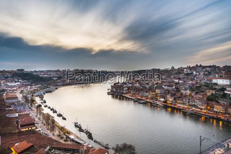 view over porto with river rio