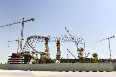 baustelle des khalifa international stadium doha