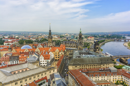 view from frauenkirche to old town
