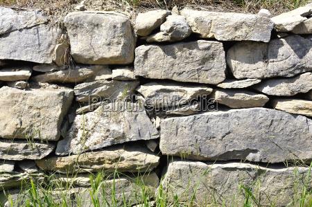 hintergrund der gestapelten und ungefestigten steinmauer