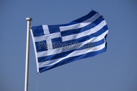 griechische flagge rhodos dodekanes griechenland