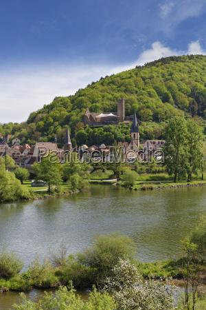 gemuenden am main with castle ruins