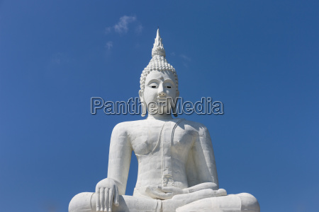 white buddha statue giant buddha surin