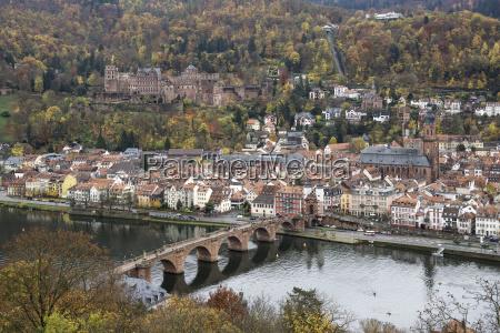 view from philsophenweg on neckar old