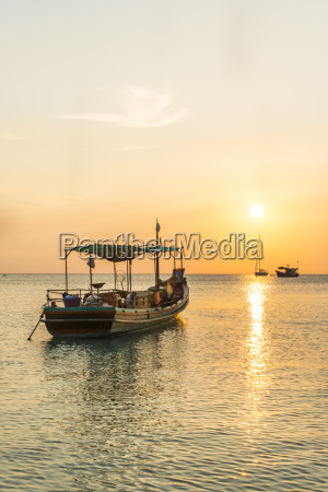 fishing boat in the sea at