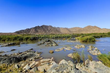 oranje grenzfluss zwischen namibia und suedafrika