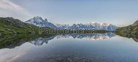 france mont blanc lake cheserys mont