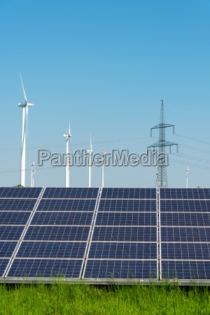 power poles solar systems and wind