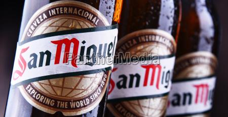 flaschen san miguel bier