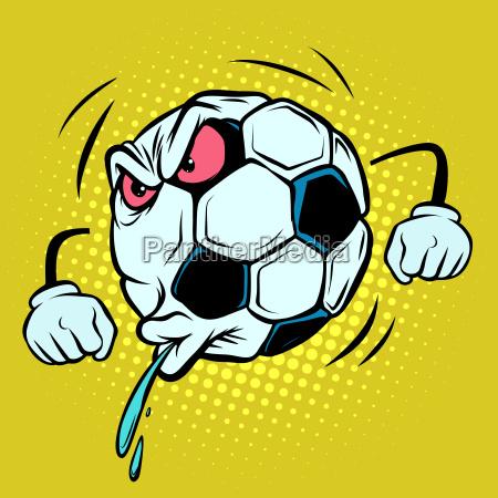 spitting fan reaction football soccer ball