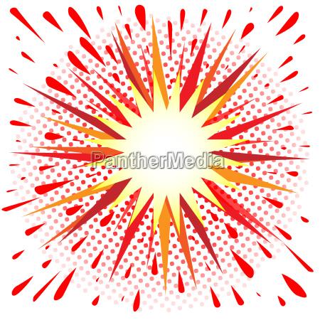 red and yellow cartoon splash