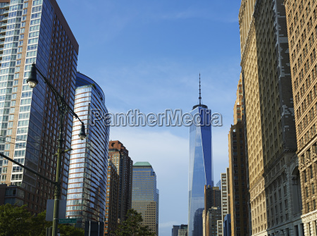 view of freedom tower from battery