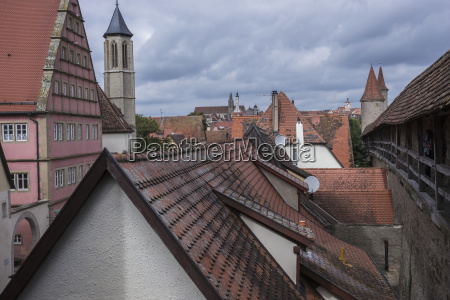 a rooftop view from spitalbastei gate