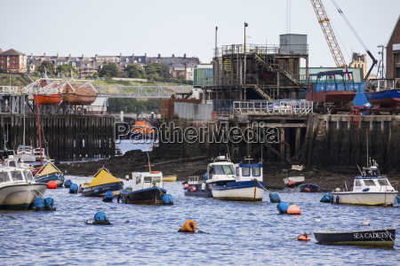 boats and buoys in the river