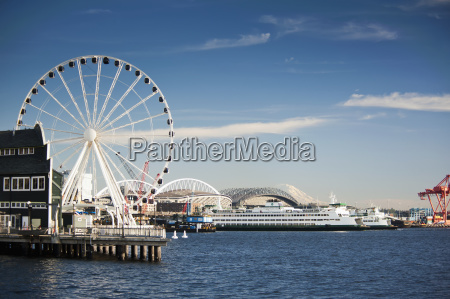waterfront view with the great wheel