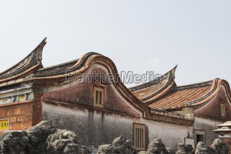 dach mit dem klassischen taiwanesischen stil