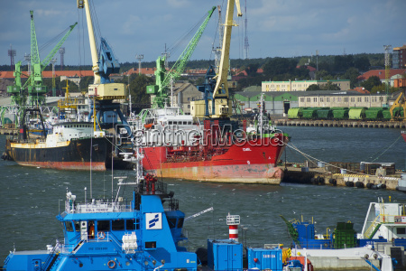 ships in the port gdyania poland
