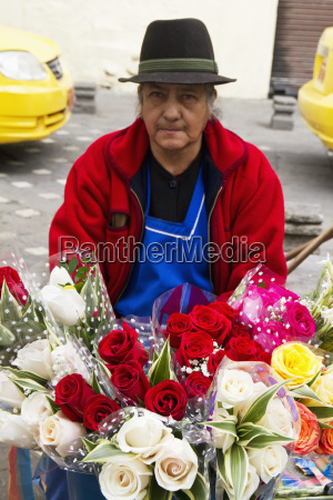 flower vendor on the plaza de