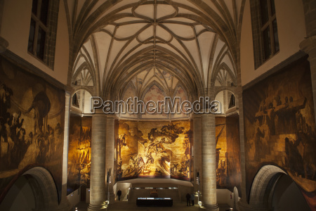 chapel filled with canvases depicting the